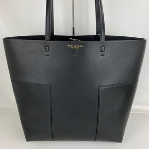 New Tory Burch Block-T Tall Leather Tote